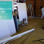 手作り撮影エリアの設置