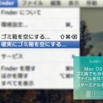 Mac OSX ゴミ箱でも消せないファイルを消す方法(ターミナル使用)